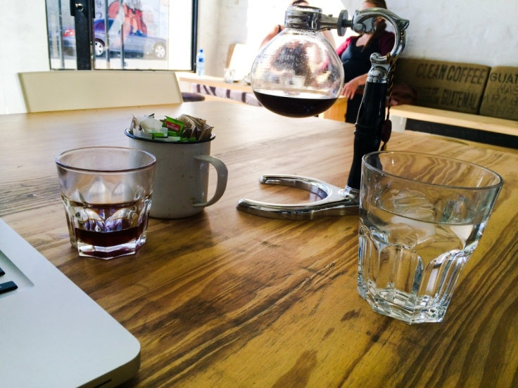 Ethiopian coffee with a Siphon